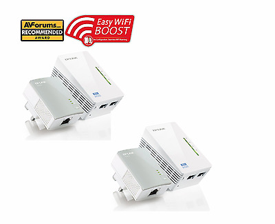 TP-LINK TL-WPA4220KIT Wi-Fi Powerline Networking Home TV Adapter Kit Twin Pack