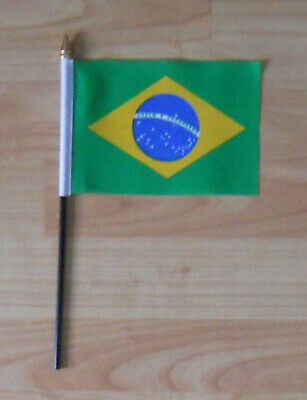 Brazil Country Hand Flag - small