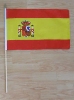 Spain Country Hand Flag - large