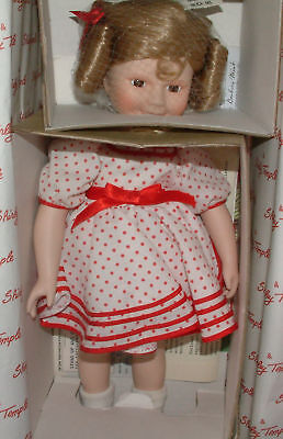 "The Danbury Mint Shirley Temple ""Stand Up and Cheer""  Porcelain Doll"