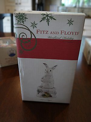 Fitz and Floyd Woodland Holiday Salt and Pepper Shakers Original Box