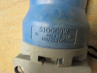 Hubbell Connector, 5100C9W, 5P, 100A, 250V, MISSING CAP