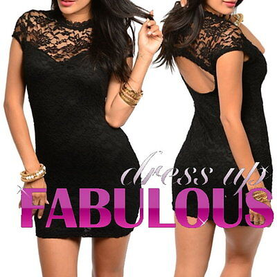 New Size 8 10 12 Women's Lace Dress Party Club Evening Formal Attire Wear