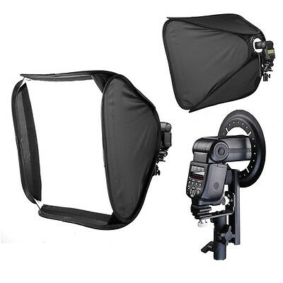 "60cm 24"" Portable Studio Softbox Speedlite Soft Box Flash Diffuser Hotshoe Video"