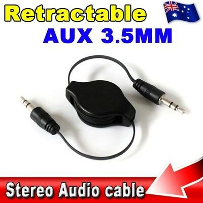 Universal 3.5mm Retractable Audio Aux Auxiliary Cable Cord Input Male To Male