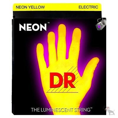 DR STRINGS K3 NEON Hi Def YELLOW ELECTRIC Guitar NYE 9 9 #0: DR Strings K3 NEON Hi Def YELLOW ELECTRIC Guitar