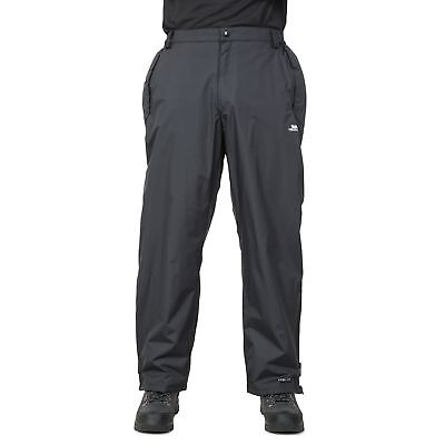 Trespass Corvo Mens Black Waterproof Trousers Hiking Windproof Pants