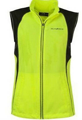 High Viz GILET lightweight running cycling motorcycle Run365 UK Large