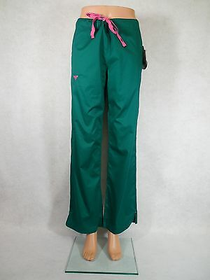 Med Couture Signature Scrub Pants. Style 8705. Hunter/Cotton. *NEW* *Free Ship*