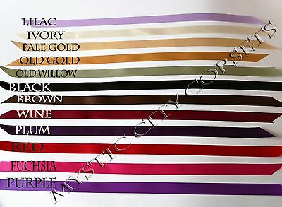 "Corset Lacing Satin Ribbon 12Colors 8 Meters 5/8""wide  Mystic City Corsets"