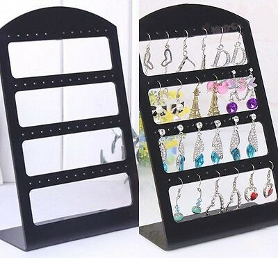 24Pairs Organizer Plastic Retail Display Black Rack Stand Holder Earring Jewelry