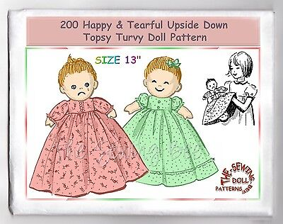 Cinderella Upside Down Doll Or Topsy Turvy Doll Pattern Vintage 2437