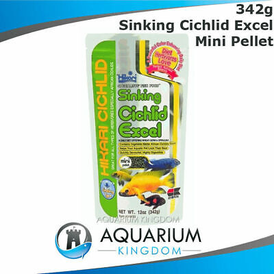 Hikari Sinking Cichlid Excel 342g MINI 3mm Pellets Vegetable Tropical Fish Food