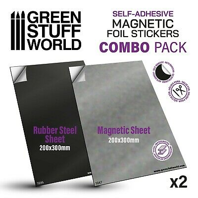 Magnetic Magnet and Rubber Steel Sheet - Self Adhesive COMBOx2 A4 - Warhammer