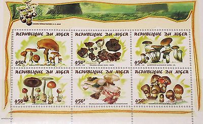 NIGER 1998 Klb 1542-47 MS 981 Mushrooms Pilze Fungi Flora Becherling MNH