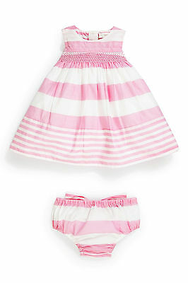 new baby girls dress knickers age 0-3 3-6 6-9 9-12 12-18 next party summer set