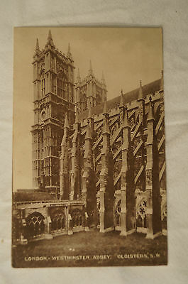 London - Westminster Abbey - Cloisters - England - Vintage - Postcard.