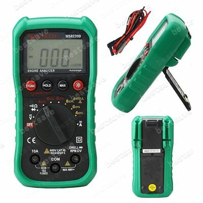 MASTECH MS8239D Digital Engine Analyzer Multi-meter AC DC V A R DWELL TACH B0277