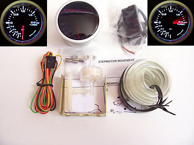 RSR Ladedruck Anzeige SET 52mm Stepper Smoke Boost Gauge 16V G60 G40 VR6 Turbo