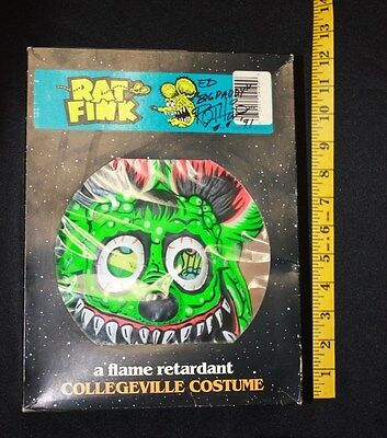 Original Vintage Collegeville Rat Fink Halloween Costume flame retardant signed