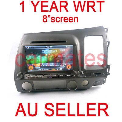 GPS for HONDA CIVIC 07-11 8Th NAVIGATION DVD TV IPOD MP4 AUX 2015 MAP 1YEAR WRT