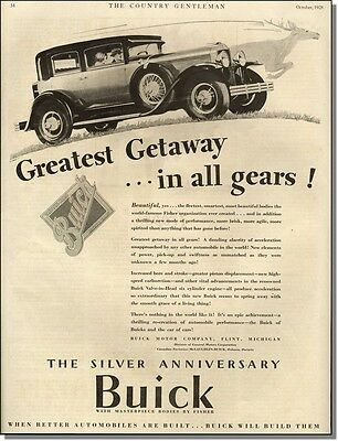 1928 run like a deer Silver Anniversary Buick Greatest Getaway car-ad