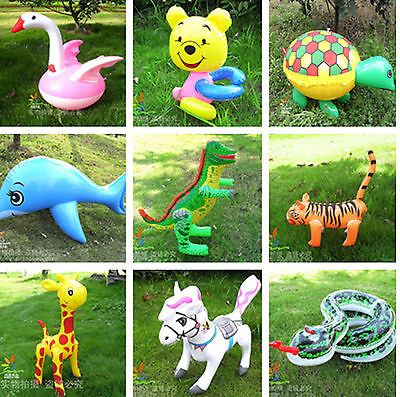 INFLATABLE BLOW UP TOY PARTY FANCY DRESS ACCESSORY HEN STAG Animal Plane Guitar