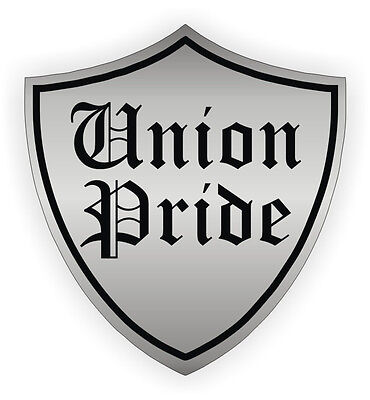 Union Pride Hard Hat Sticker / Helmet Label Decal Motorcycle Foreman Laborer USA