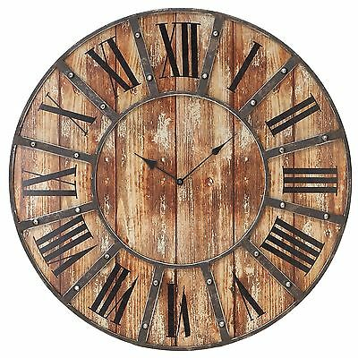 24 Wooden Large Tuscan Wall Clock Rich Coloring Number
