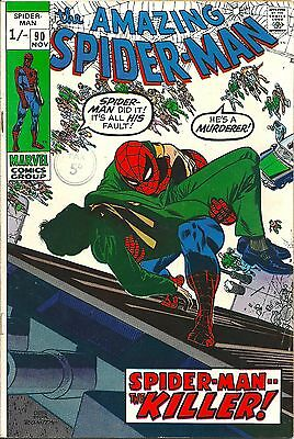 Spider-Man 90 Marvel 1970 Death of Captain Stacy High Grade