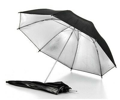"33"" 83cm photography Pro Studio flash Reflector Black Silver Umbrella for Camera"