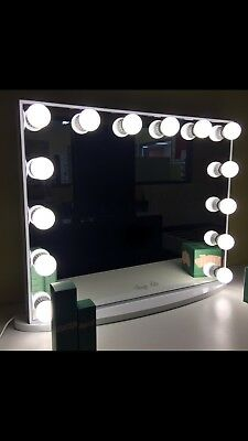 L-Frameless Hollywood Makeup Mirror with lights, Vanity Make Up Beauty Mirror