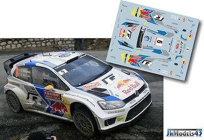 Decal 1/43 JHM43076 Andreas Mikkelsen - VW Polo R WRC - Rally Montecarlo 2014