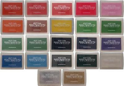 Pigment Craft Ink Pad for Paper, Wood, Fabric 20 Colours Craft Scrapbooking Card