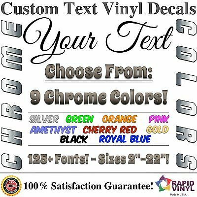 Chrome Custom Vinyl Lettering Text Decal for Home Garage Car Truck Boat Trailer