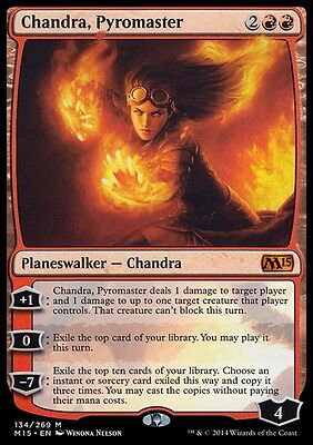 CHANDRA, PADRONA DEL FUOCO - CHANDRA, PYROMASTER Magic M15 Mint