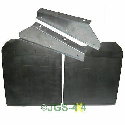 Land Rover Defender Front Mud Flaps + Galvanised Brackets RTC4685/DA1188