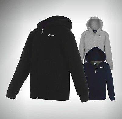 Boys Nike Full Zip Hoody Top Hooded Sizes Age 7 8 9 10 11 12 13 Years