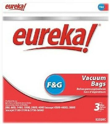 Eureka F & G Vacuum bags (3pk) Genuine Part #52320C