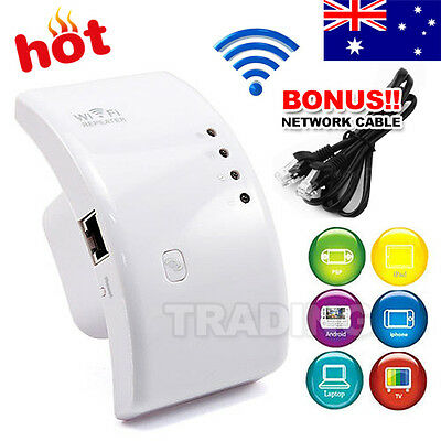 300Mbps Signal Extender Booster Wireless N AP Range 802.11 Wifi Repeater AU Plug