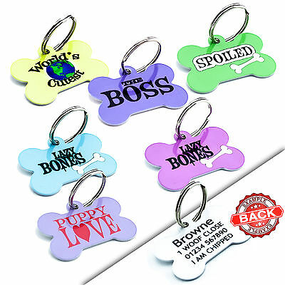 Funny Dog ID Tags - Pet ID Tags - Personalised Pet Tag For Collar - Metal Discs