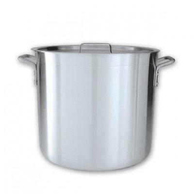 Stockpot with Cover / Lid, 12L, Aluminium Reinforced Rim, Commercial Stock Pot