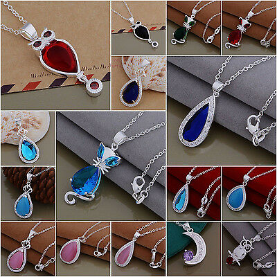 Wholesale Fashion 925Solid Silver Jewelry Pendant Necklace Chain Xmas Gift