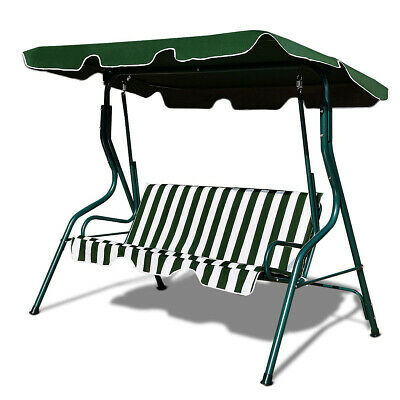 2/3 Seater Garden Hammock Swing Seat Outdoor Bench Chair Patio Swing Chair Green
