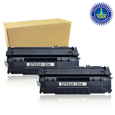 2 V4INK Q7553A Toner Cartridges FOR HP 53A LaserJet M2727 MFP M2727nf MFP P2015n