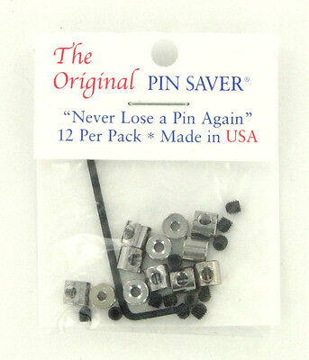 new Original Pin Saver Pin Back Keepers Made in USA 12 Pack Brooch Lapel Hat