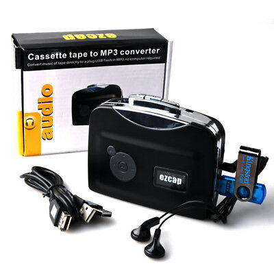 Tape to USB Flash Drive Cassette-to-MP3 Converter Capture F phone's Audio Player