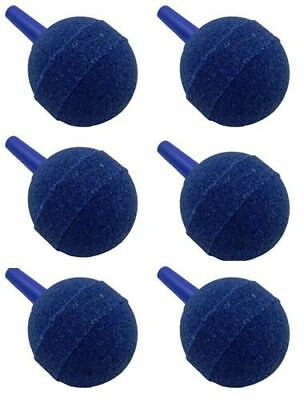 "Pack of 6 40mm/1.5"" Blue Ball Round Air Stone Airstone Oxygen into Pond or Tank"
