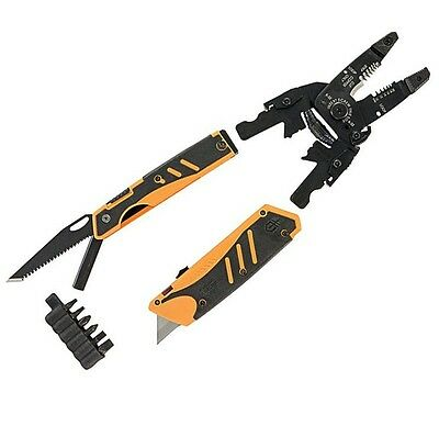 Gerber 30-000454 Electrician's Groundbreaker Multi Tool Wire Stripper w/ Sheath