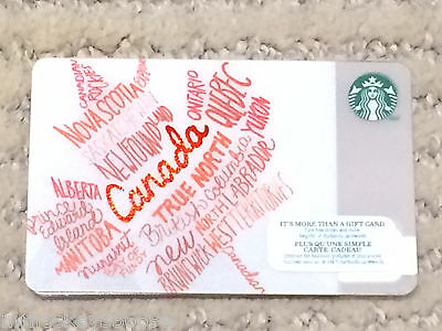 132 2014 Starbucks Canada HAPPY EASTER Gift Card no cash value